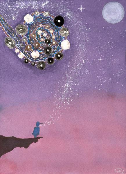 Child Of The Stars Art | Rafa Mariano Art