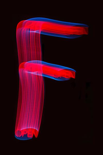 Letter F Light Painting Photography Art | David Louis Klein