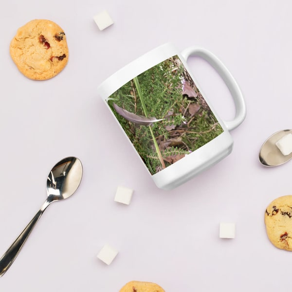 """""""Still Life With Floating Feather"""" Coffee Mug"""