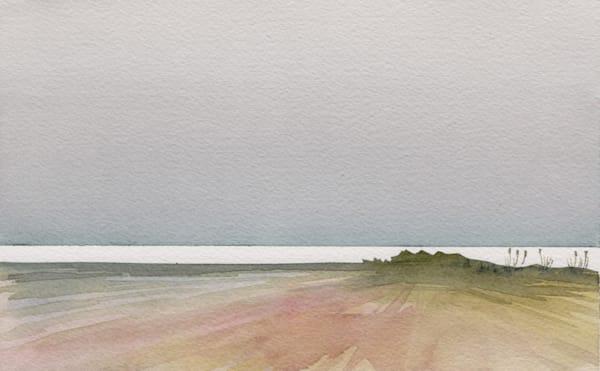 art, watercolor, coastal, grey, beach, contemporary