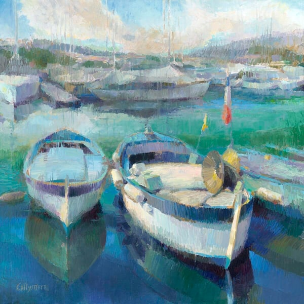 Fishing Boats In Port St Jean, Cap Ferrat Art | Fountainhead Gallery