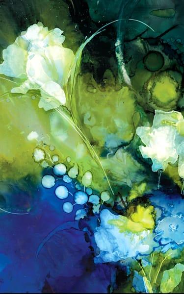 Blue Botanical 24 x 36