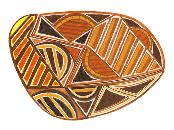 """Inspired Aboriginal"" fine art print by Ann Kralapp."