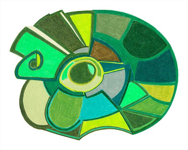 """Green Eyed"" fine art print by Ann Kralapp."