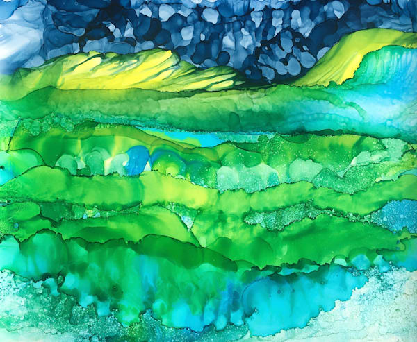 Wrapped In Water, Original Art | Sandy Smith Gerding Artwork