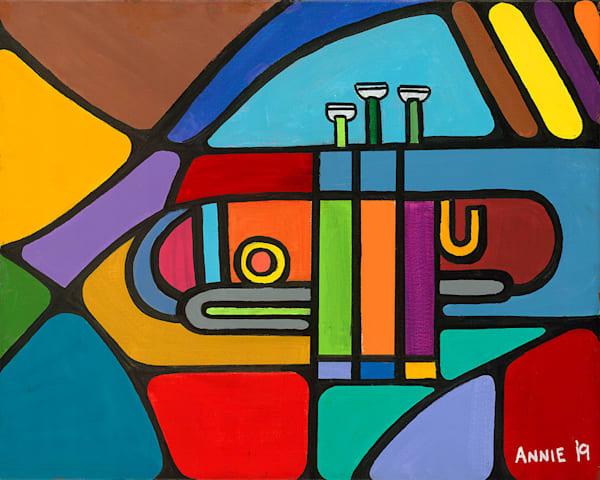 """Karl's Trumpet"" fine art print by Ann Kralapp."