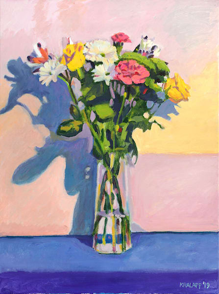 """Pink on Blue"" fine art print by Karl Kralapp."