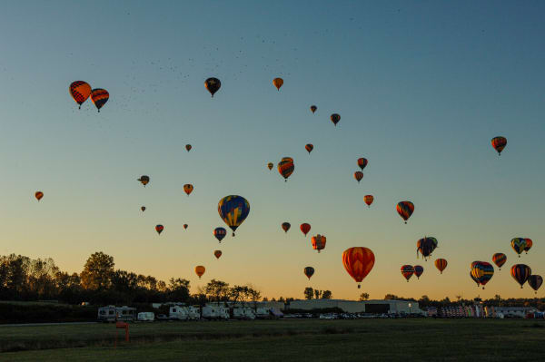 Photography By Festine sky full of balloons