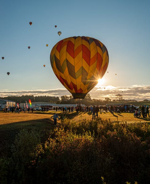 Photography By Festine balloon early sunrise