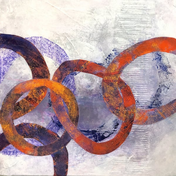 Unexpected Turns - Original Abstract Painting | Cynthia Coldren Fine Art