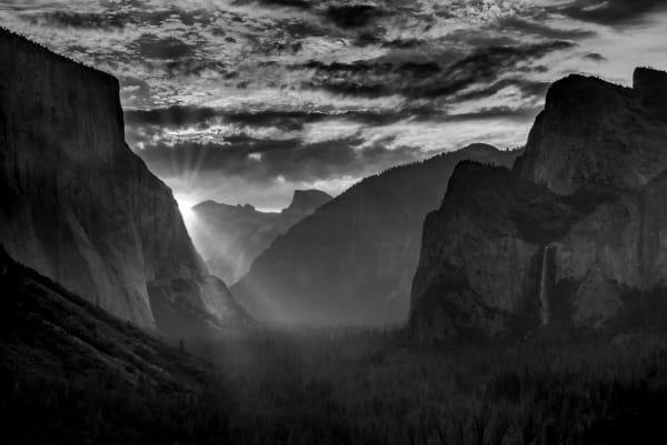 Yosemite Valley B W Sunrays  Photography Art | Robert Vielee Photography