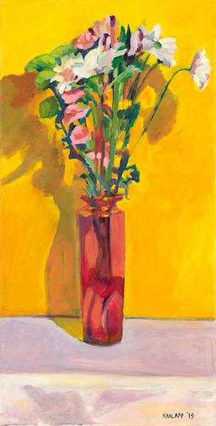 """Gold On Mauve"" fine art print by Karl Kralapp."