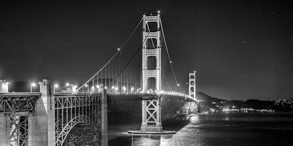 Golden Gate Bridge At Night Photography Art | Studio 221 Photography