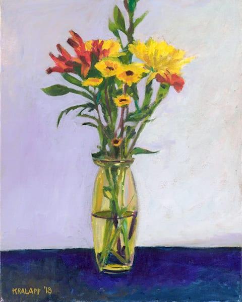 """""""Bouquet On Blue"""" fine art print by Karl Kralapp."""