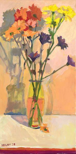 """""""Daisies in Yellow Vase"""" fine art print by Karl Kralapp."""