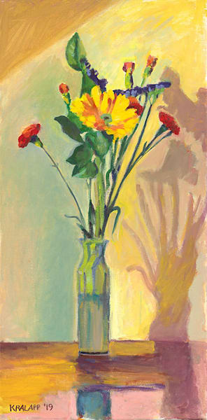 """Six Carnations"" fine art print by Karl Kralapp."