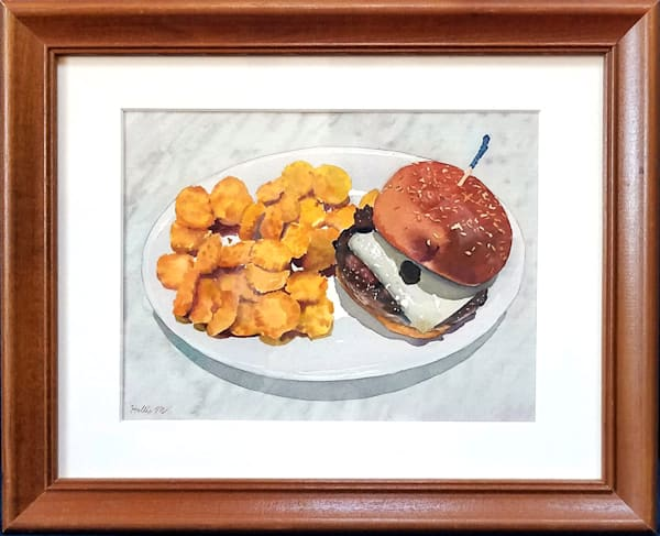 Blissful Burger Art | Machalarts Watercolor Studio