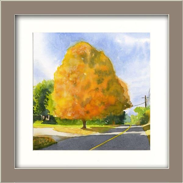 Fall Maple Art | Machalarts Watercolor Studio