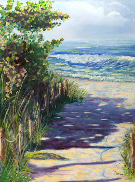 Walk to the Beach, From an Original Oil Painting