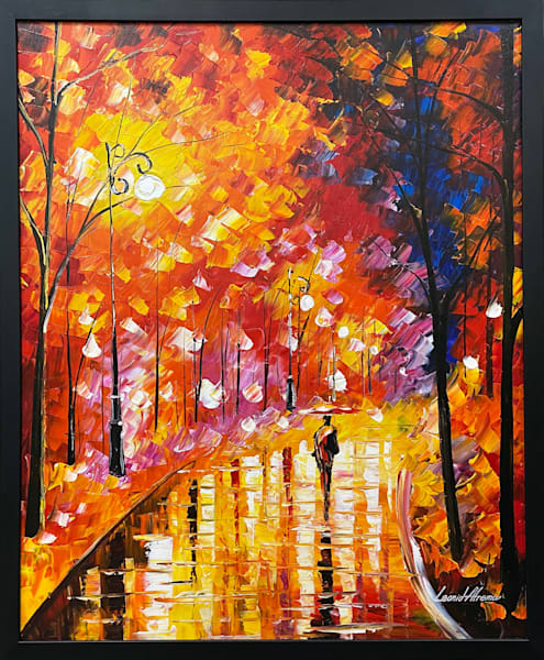 L Afremov   Colors Of The Rain Art by Mary Phillip - Branson West Gallery