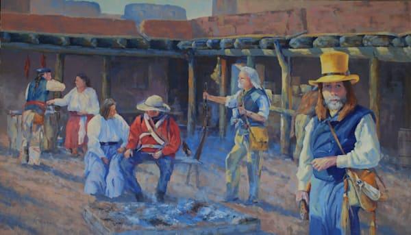 Gathering At Bents Fort Art   Gary Gore