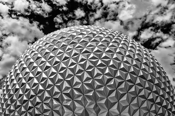 Spaceship Earth Top B&W - Disney Images Black and White