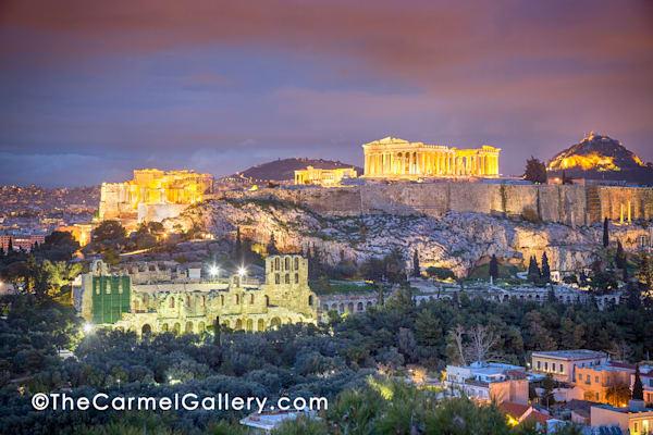 Dusk Athens Acropolis