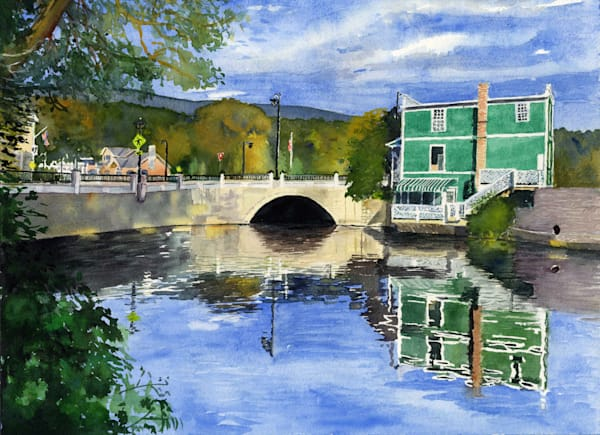 Mill Pond   Manchester Vt Art | Machalarts Watercolor Studio