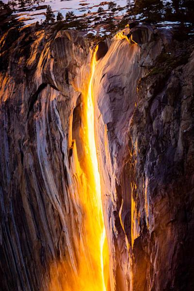 Horsetail Falls Aflame