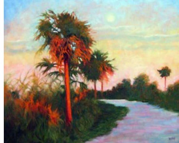 Moonrise Merritt Island, From an Original Oil Painting