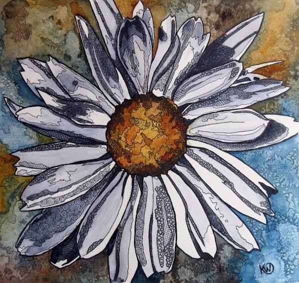 White Daisy Art | Water+Ink Studios