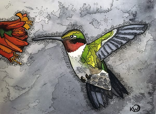 Hummingbird #4 Art | Water+Ink Studios