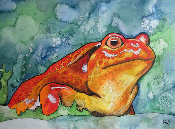 Red Tomato Frog Art | Water+Ink Studios