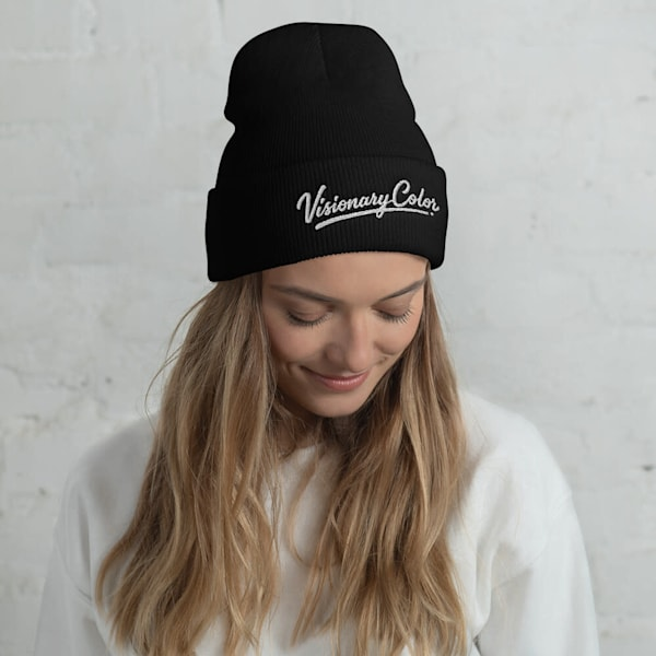 Visionary Color White (Cuffed Beanie)