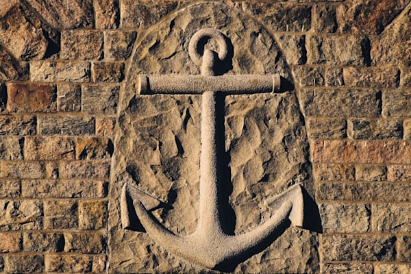 Hope's Anchor In Stone by Keith R Wahl, Made From RI Gallery