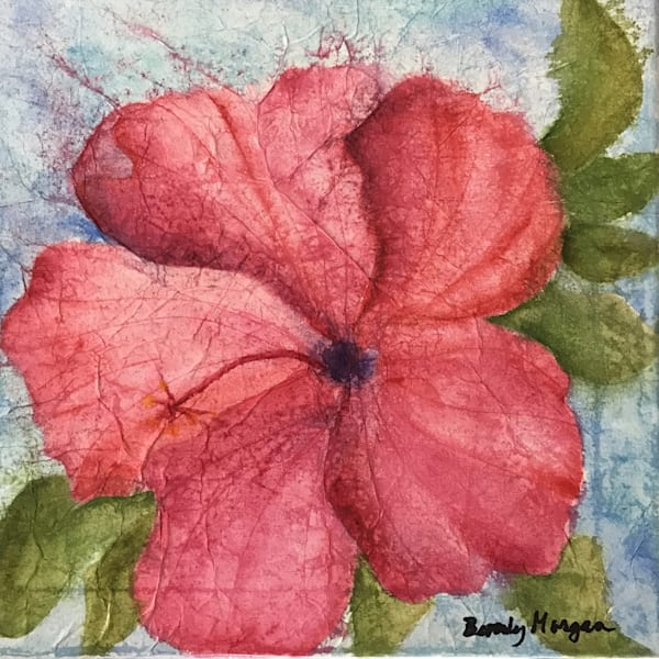 Pink Hibiscus, From an Original Watercolor Painting