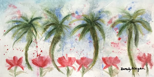 Poppies and Palms