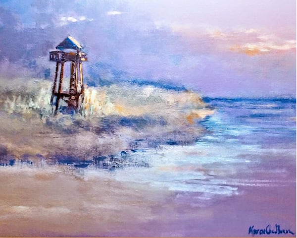 Sebastian Coast Guard Tower, Acrylic Painting