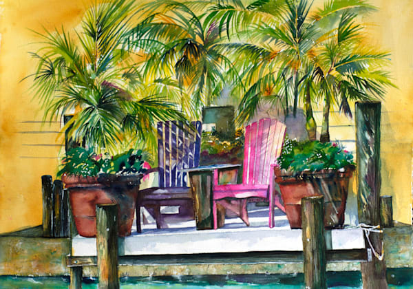 Sittin' on the Dock, From an Original Watercolor Painting