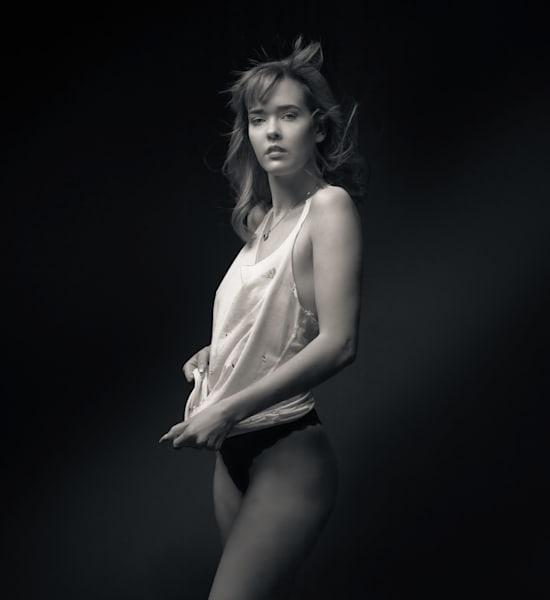 Violet Standing With White Tank Bw Photography Art   Dan Katz, Inc.