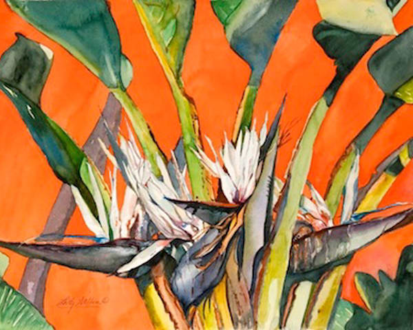 Birds In The Breeze, From an Original Watercolor Painting