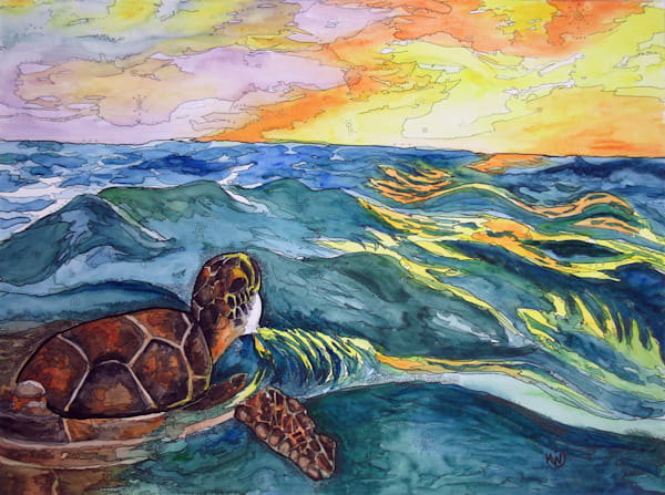 Turtle At Sea