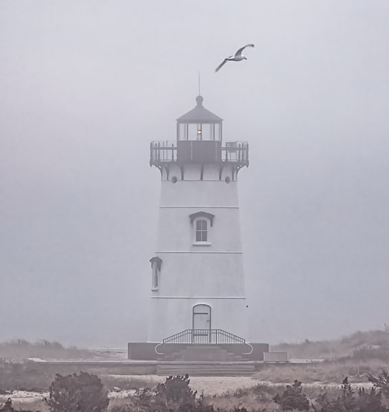 Edgartown Light Winter Fog Art | Michael Blanchard Inspirational Photography - Crossroads Gallery