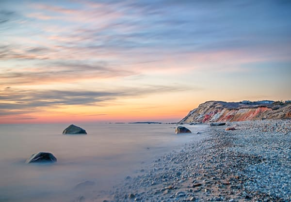 Gay Head Cliffs Pastel Sunset Art | Michael Blanchard Inspirational Photography - Crossroads Gallery