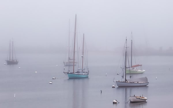 Owen Park Sailboat Fog Art | Michael Blanchard Inspirational Photography - Crossroads Gallery