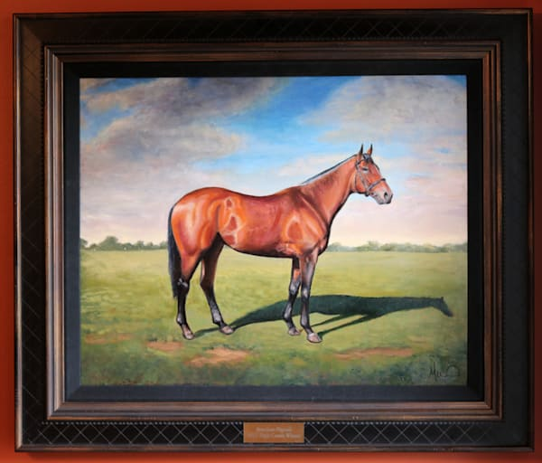 AMERICAN PHAROAH OIL ON CANVAS PAINTING (SIDE BODY PORTRAIT)