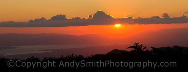 Sunset from Monteverde, Costa Rica.