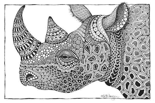 "Black Rhino | Kristin Moger ""Seriously Fun Art"""