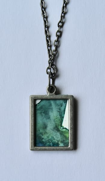 Green/Blue Reversible Pendant | Karen Bishop Artist