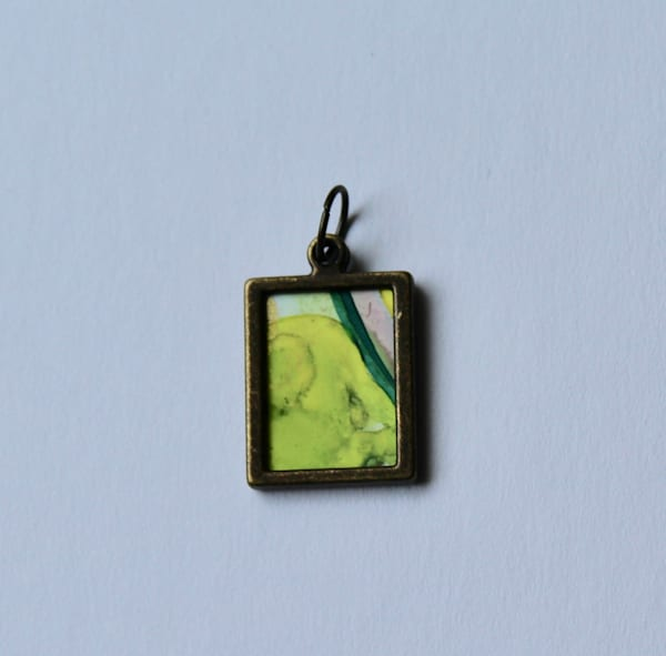 Red/Green Reversible Pendant | Karen Bishop Artist